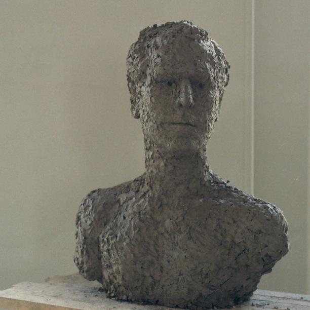 Sculpture in clay 53 × 43 cm