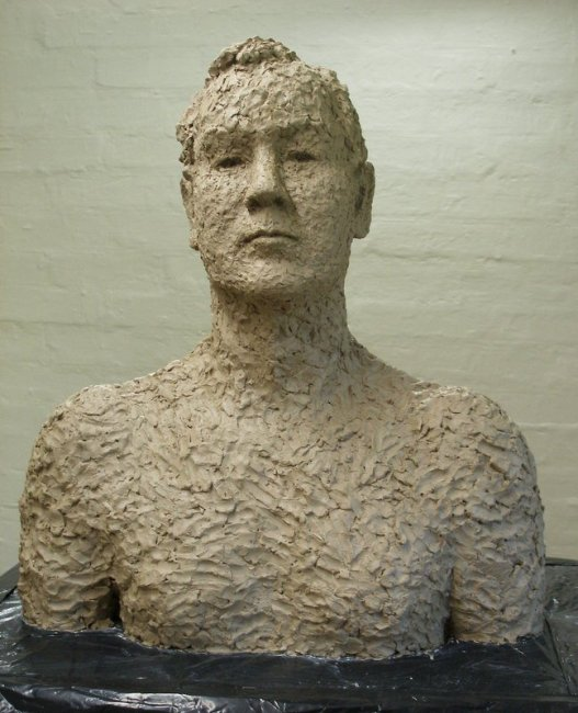 Sculpture in clay 53 × 47 cm